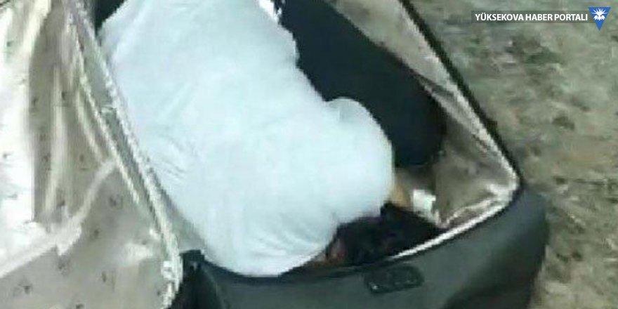 Sınır kapısında valizden kadın çıktı