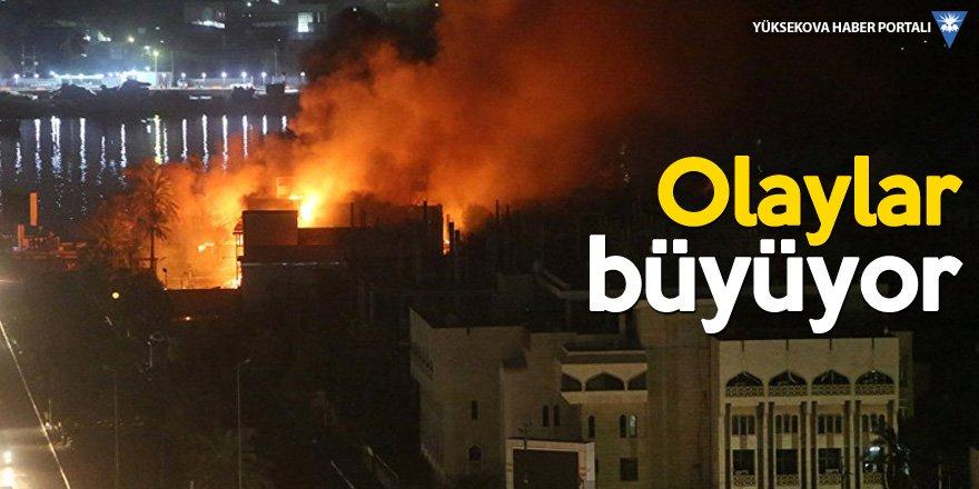 Basra'da Devlet televizyonu ve parti binaları ateşe verildi
