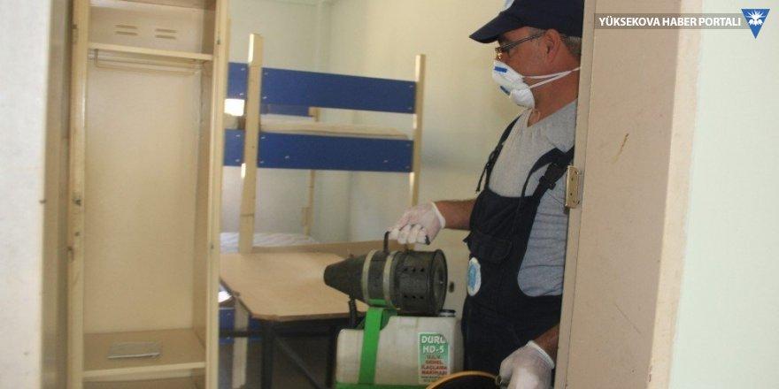 Hakkari'de tüm okullar dezenfekte edildi