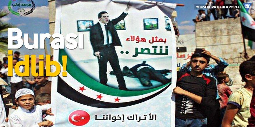 İdlib'deki protestoda cihatçılar, Karlov'un katilinin posterini taşıdı