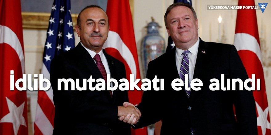 Çavuşoğlu, Pompeo ile İdlib'i görüştü
