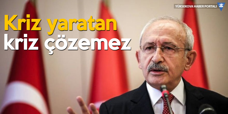 Kılıçdaroğlu: Halk perişan, o lale devri yaşıyor