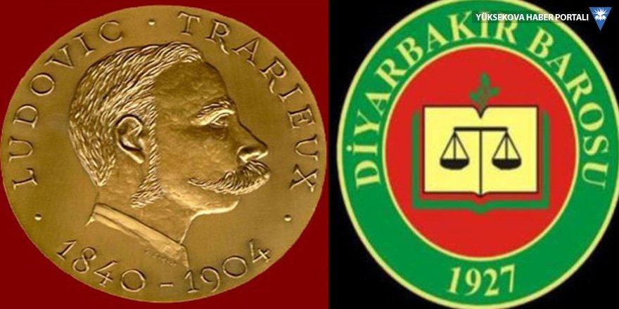 Ludovic Trarieux Jüri Özel Ödülü, Diyarbakır Barosu'na verildi