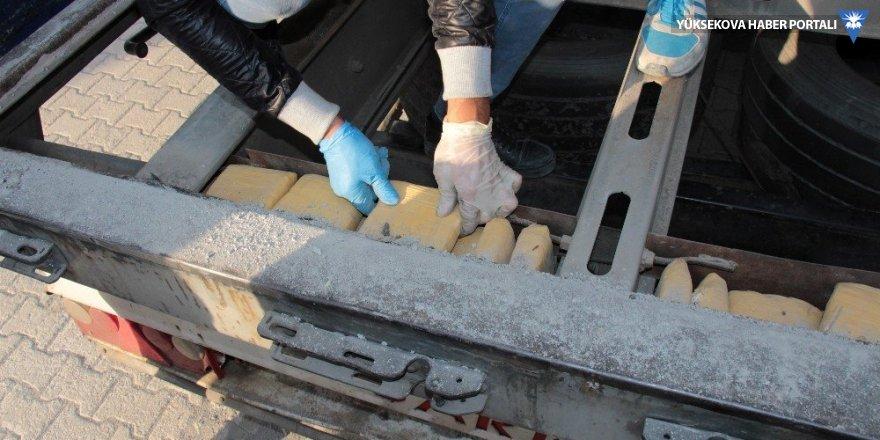 Hakkari'de 56 kilo 240 gram eroin ele geçirildi