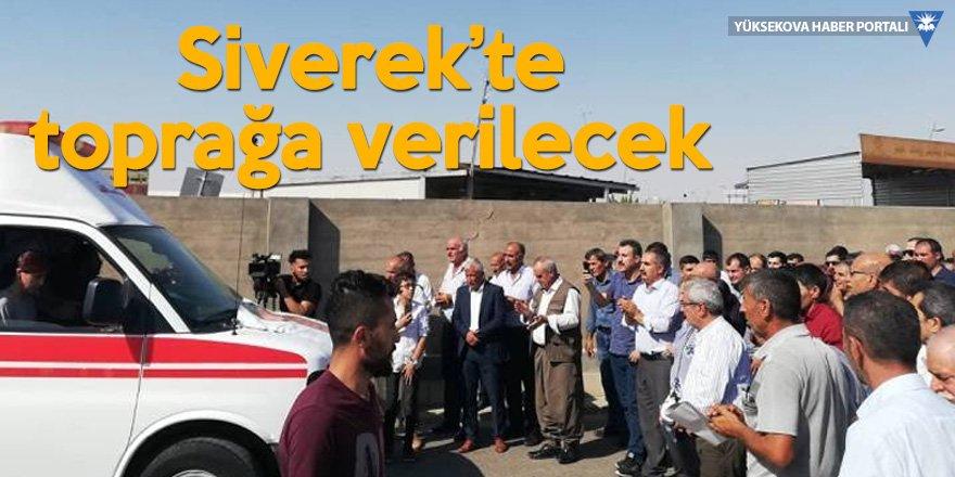 Ayhan'ın cenazesi Erbil'den uğurlandı