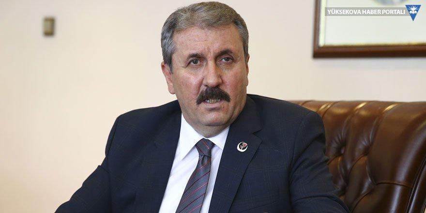 Mustafa Destici: Kimse Gezi tarzı bir eylemi aklından geçirmemeli