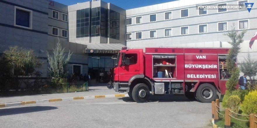Van'daki hastanede yangın paniği