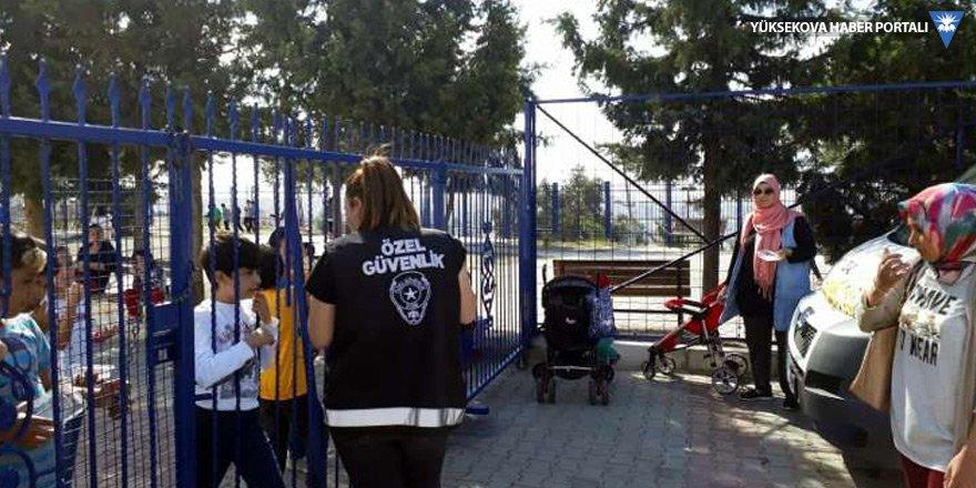 Çocukların kaçırılmaya çalışıldığı okula özel güvenlik