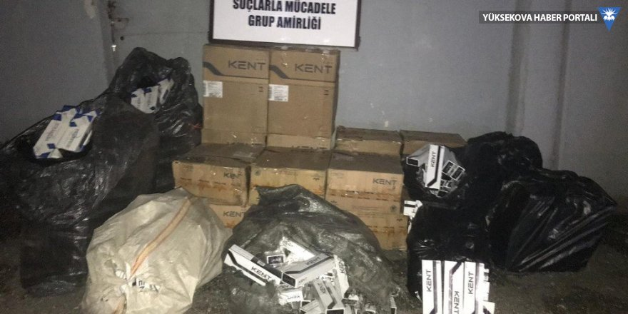 Van'da 13 bin 500 paket sigara yakalandı