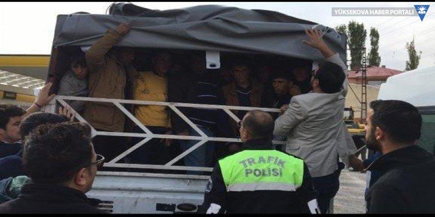 Van'da 57 kaçak şahıs yakalandı