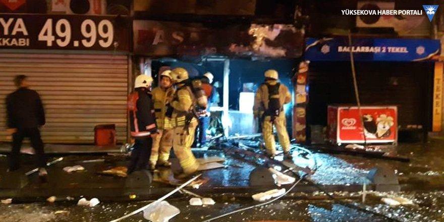 Lokantada patlama sonrası yangın