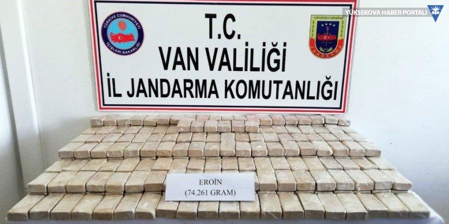 Van'da 74 kilogram eroin yakalandı
