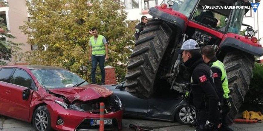 TBMM önünde durmayan traktöre ateş açıldı