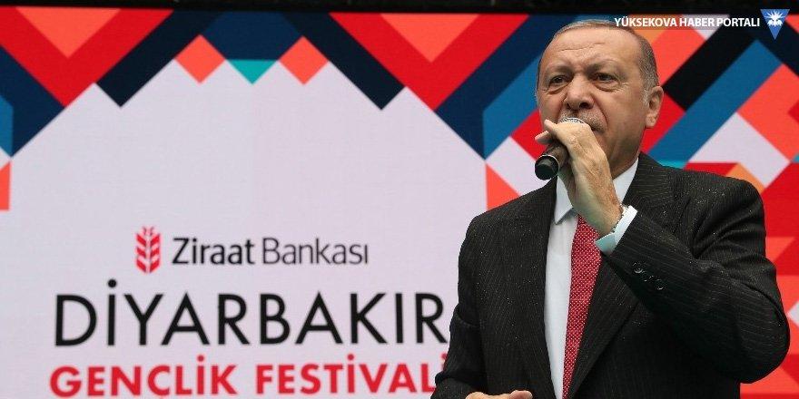 Erdoğan Diyarbakır'da: Onlar çukur kazdı, biz abide diktik