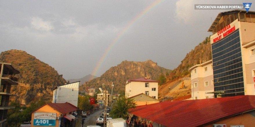 Çukurca'da gökkuşağı güzelliği