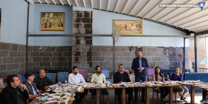 Diyarbakır Baro Başkanı Cihan Aydın basın mensupları ile bir araya geldi