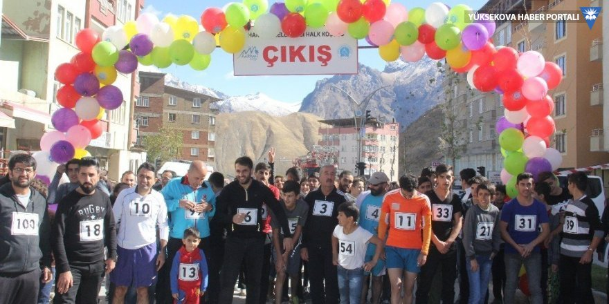 Hakkari'de 'Halk Koşusu' düzenlendi
