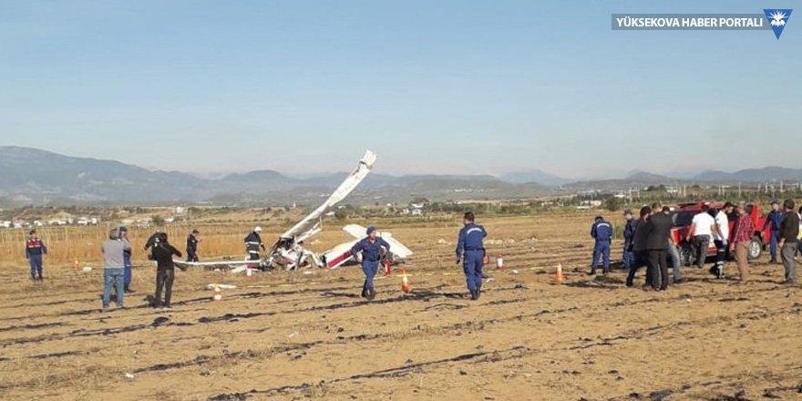 Antalya'da uçak düştü