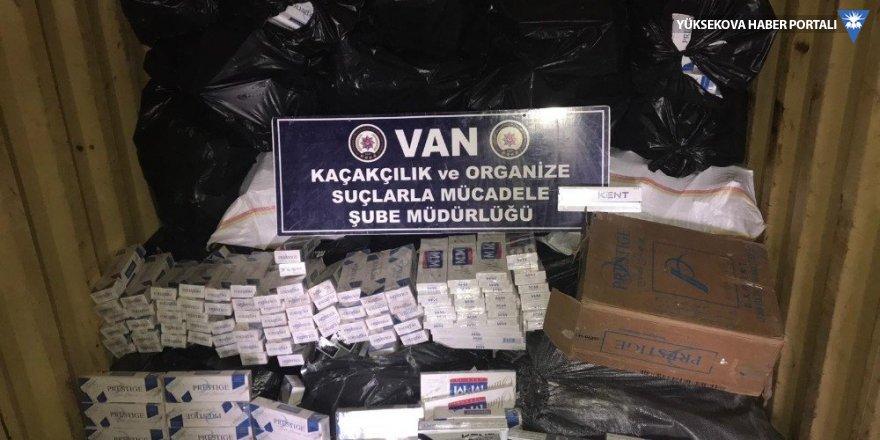Van'da 14 bin 790 paket kaçak sigara ele geçirildi