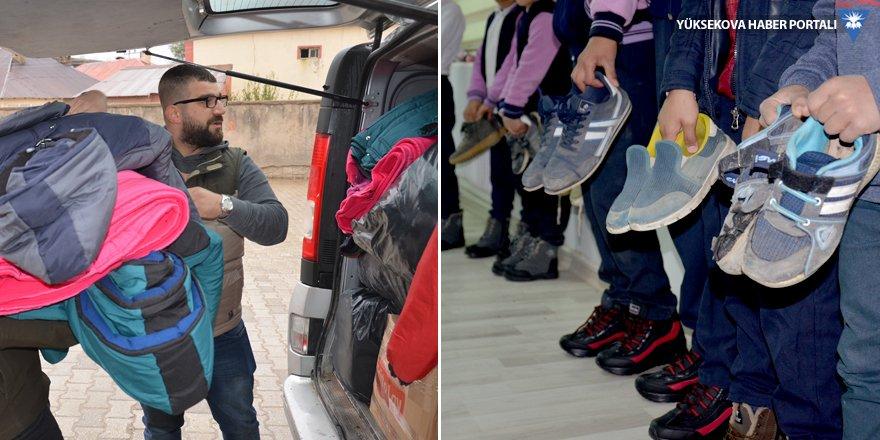 Yüksekova Haber'in 'Sen de bir öğrenci giydir' kampanyasında 500 öğrenci giydirildi