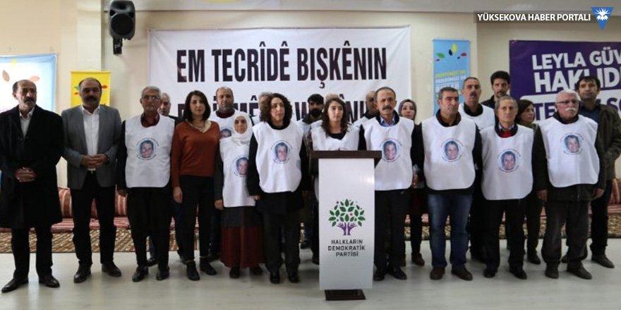 Leyla Güven'e destek için açlık grevi