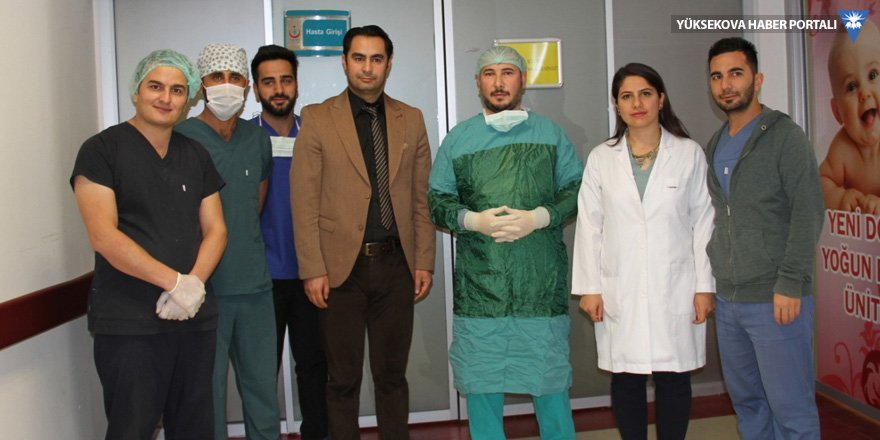 Şemdinli'de ilk defa bel fıtığı ameliyatı yapıldı