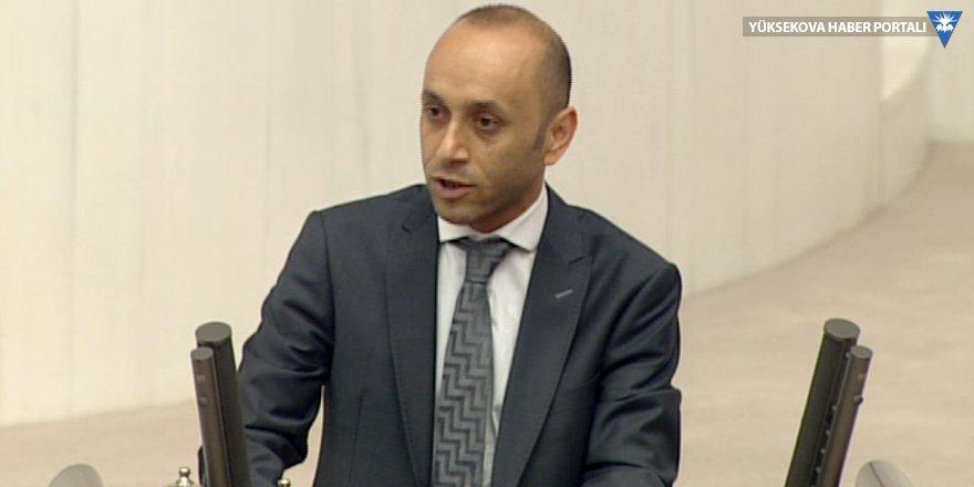 HDP'li Sait Dede, mecliste Hakkari'nin sorunlarını anlattı