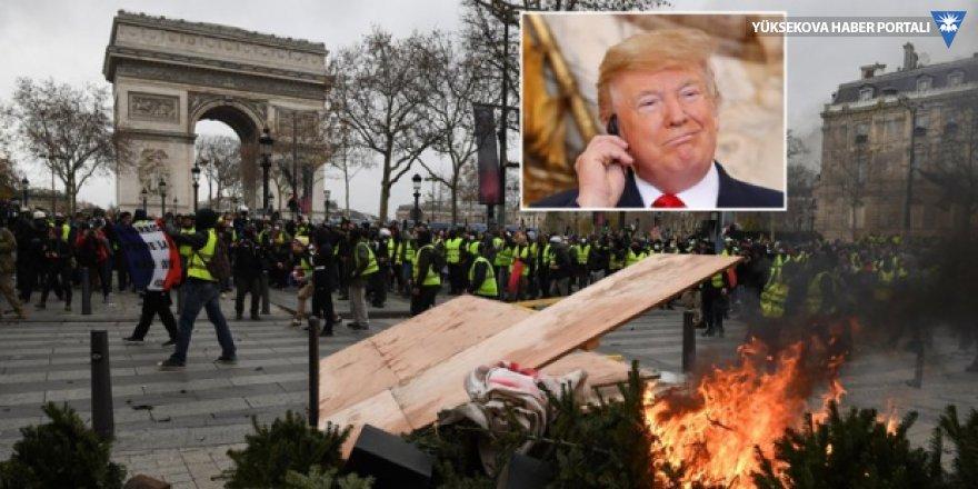 Fransa'dan Trump'a sert yanıt: Burnunu sokmamalı!