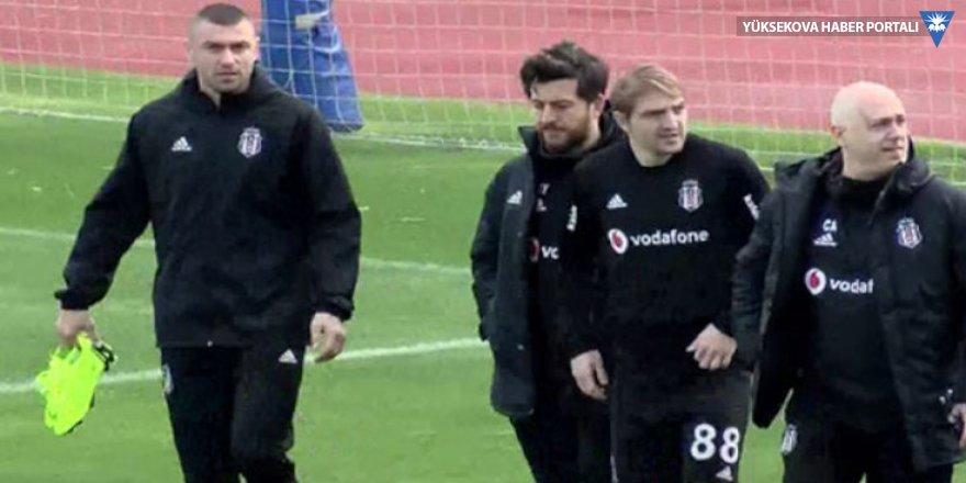 Burak Yılmaz Beşiktaş'ta ilk idmana çıktı