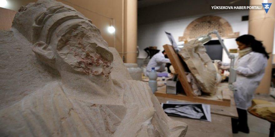 Palmira'da IŞİD'den kurtarılan tarihi eserler Şam'da restore ediliyor