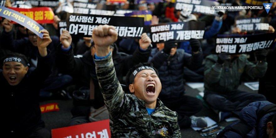 Yerli 'Uber' protesto ediliyor: Güney Kore'de bir taksici daha kendini yaktı