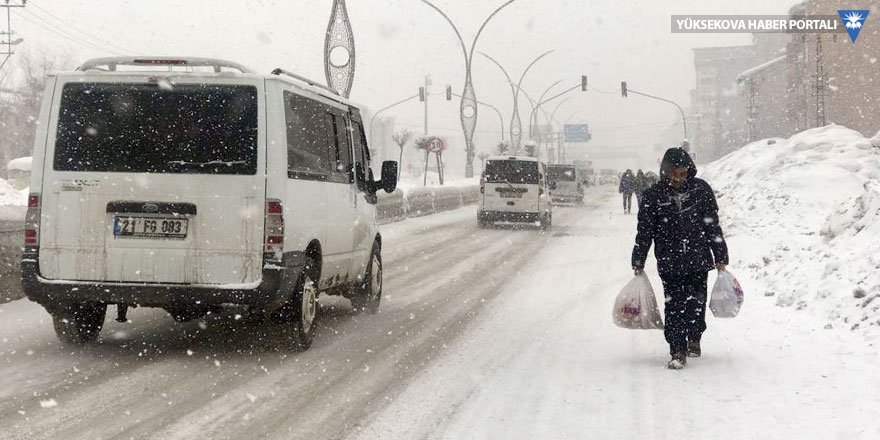 Yüksekova'da kar yağışı: Köy yolları kapandı