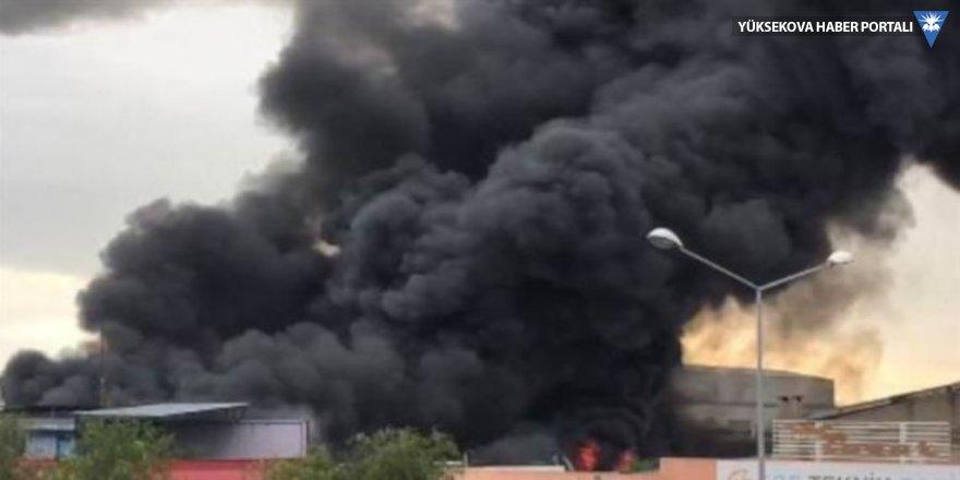 Çiğli'de fabrika yangını