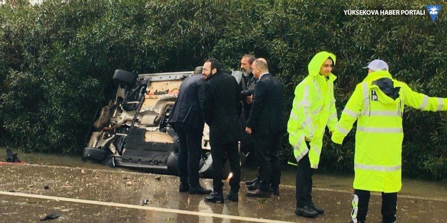 Bakan Soylu'nun korumaları kaza yaptı