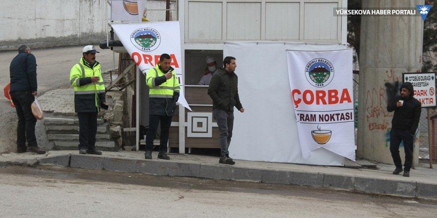 Şemdinli Belediyesinden çorba ikramı