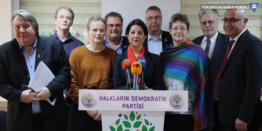 Uluslararası Barış Heyeti HDP'yi ziyaret etti