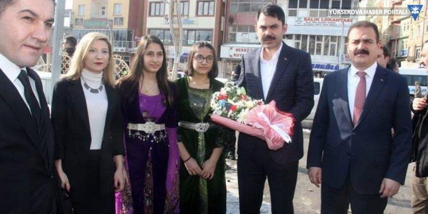 Bakan Murat Kurum Hakkari'deydi