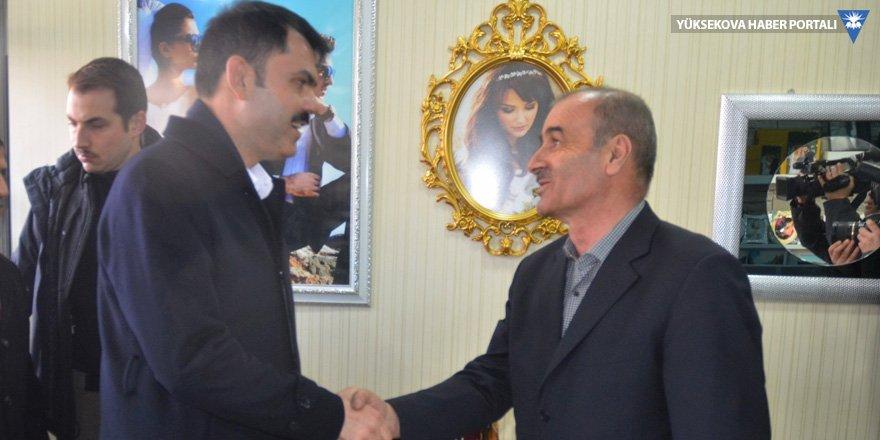 Bakan Kurum Yüksekova'daydı: Şahin Tepesi'ni millet bahçesine çevireceğiz