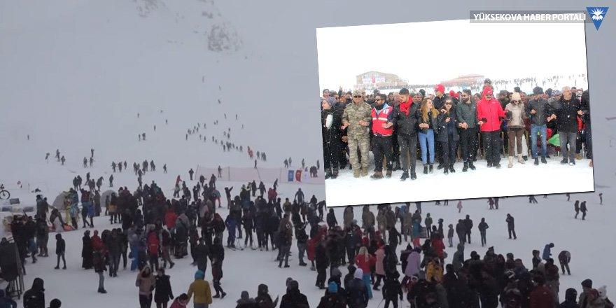 Hakkari kar festivaline 3 bin kişi katıldı