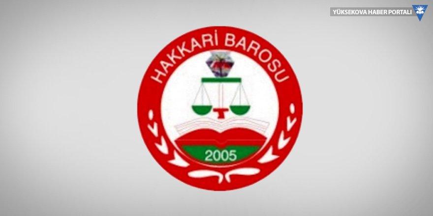 Hakkari Barosu'ndan 10 Aralık mesajı