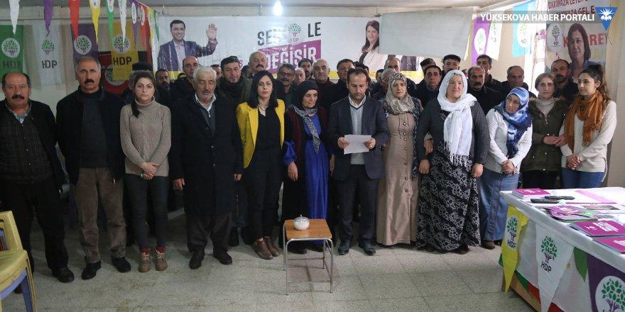 Yüksekova'da Halepçe Katliamı kınandı