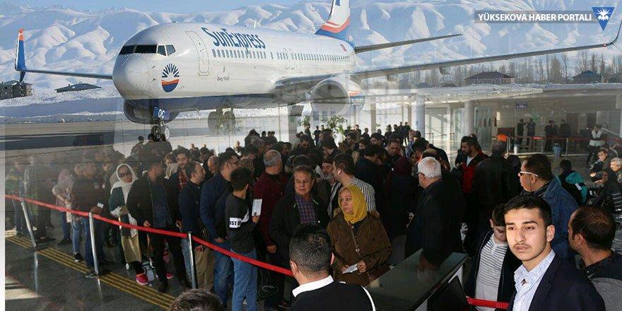 İranlı turistler için Yüksekova'ya özel uçak