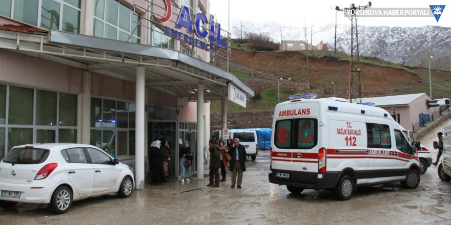 Şemdinli'de kaza: 12 kişi yaralandı