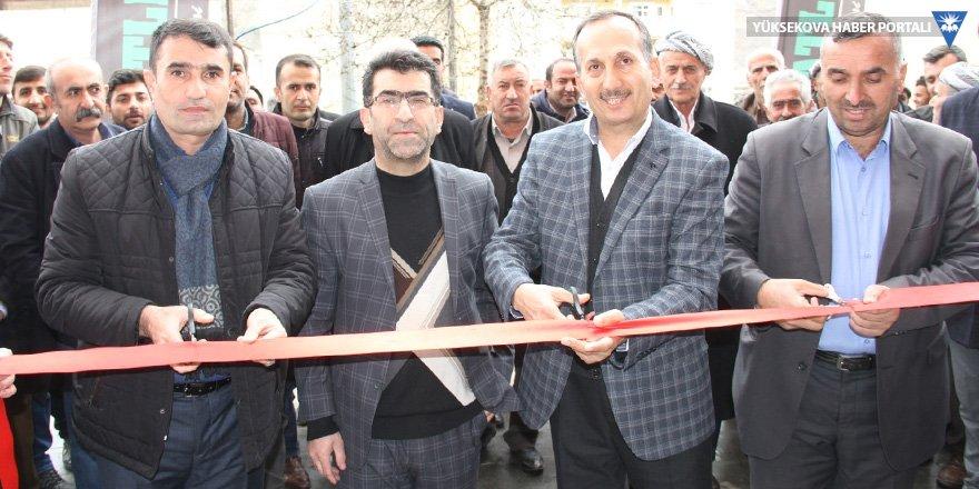 Şemdinli'de HDP, Ak Parti ve CHP adayı aynı açılışa katıldı