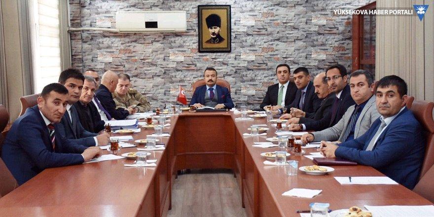 Yüksekova'da seçim güvenliği toplantısı