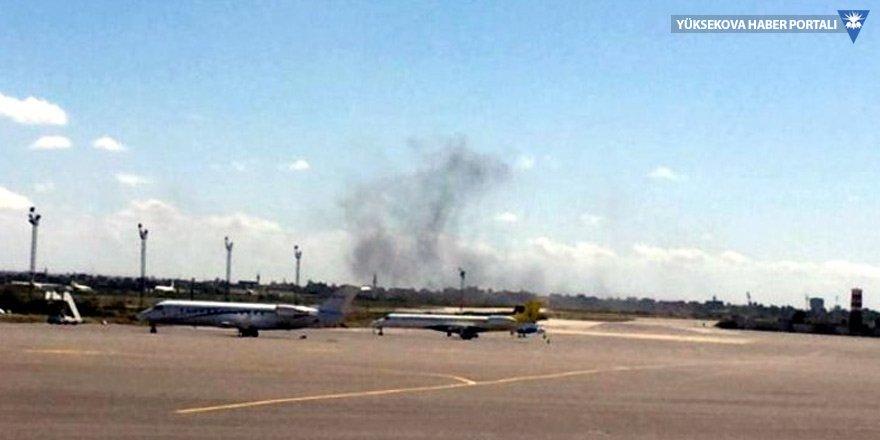Trablus havaalanı savaş uçağı ile bombalandı