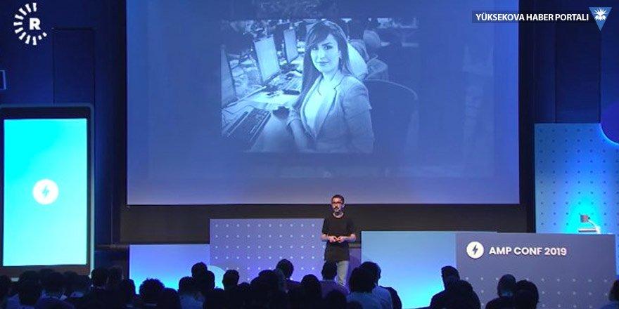 Google AMP Konferansı'nda Kürt gazeteci Şifa Gerdi anıldı