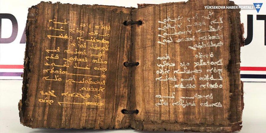 Diyarbakır'da bin 300 yıllık  altın yazmalı kitap ele geçirildi