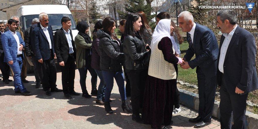 HDP ve DBP Hakkari İl Teşkilatlarından eş başkanlara ziyaret