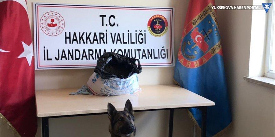 Yüksekova'da yaklaşık 18 kilogram esrar ele geçirildi